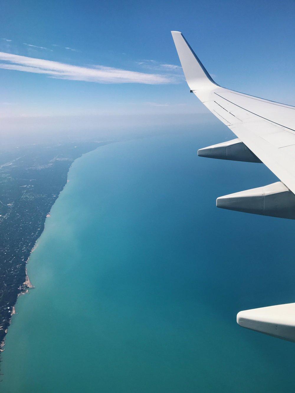 Lake Michigan looks so tropical!