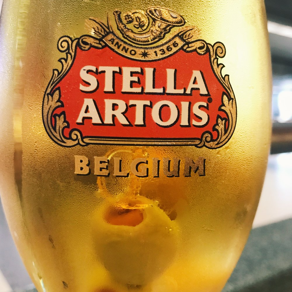 Fact: a little bit of Stella (with olives, of course) is the perfect pre-flight beverage.