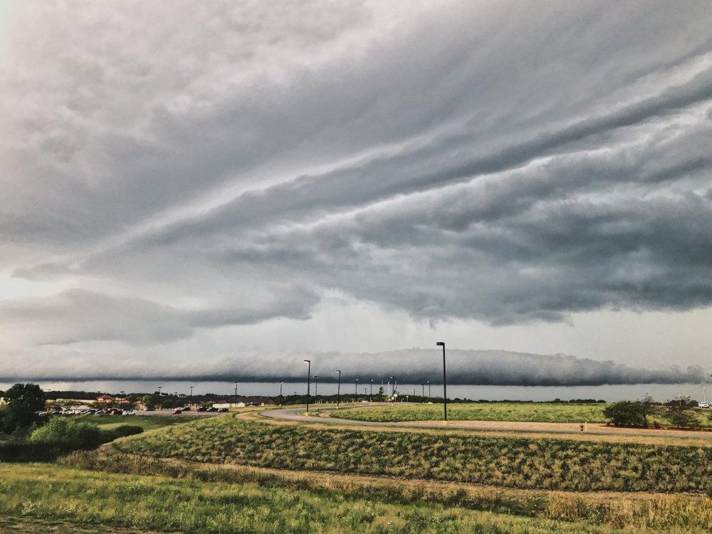 Storms brewing in Osceola, Iowa.