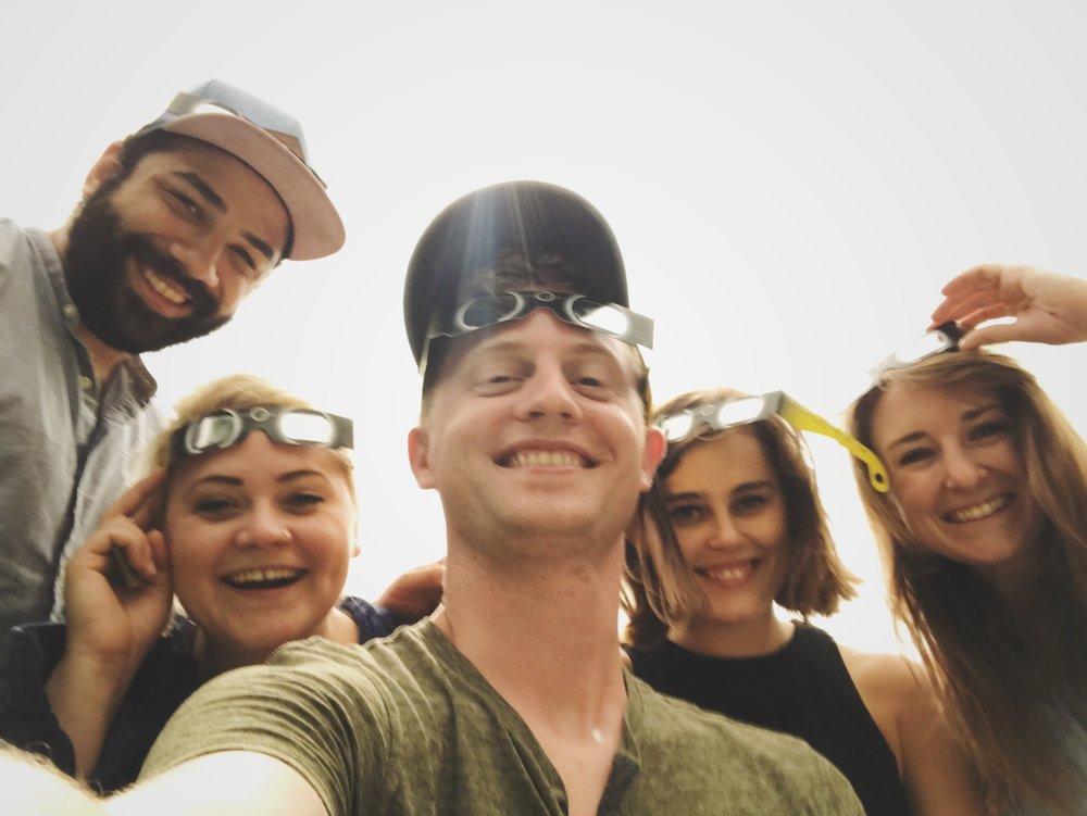 Proud survivors of Eclipse 2017.