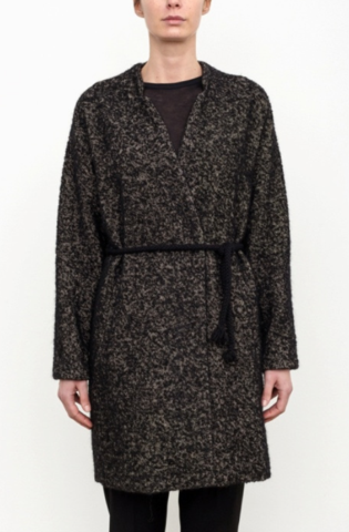Pomandere Coat with Tie Waist