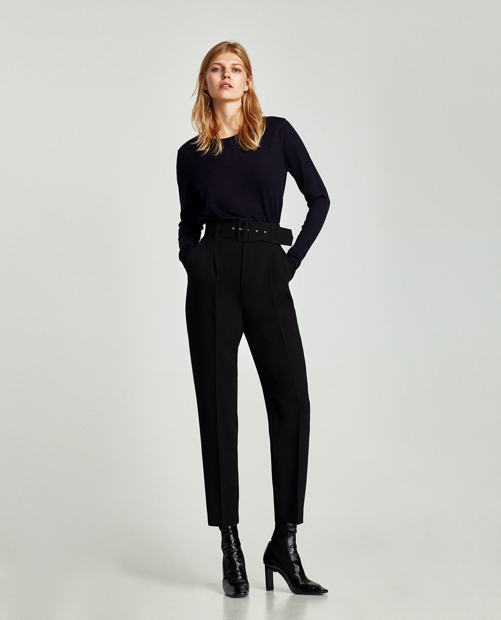 Zara Crepe Trousers with Belt