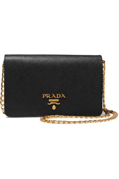 Prada Wallet on a chain textured-leather shoulder bag.jpg
