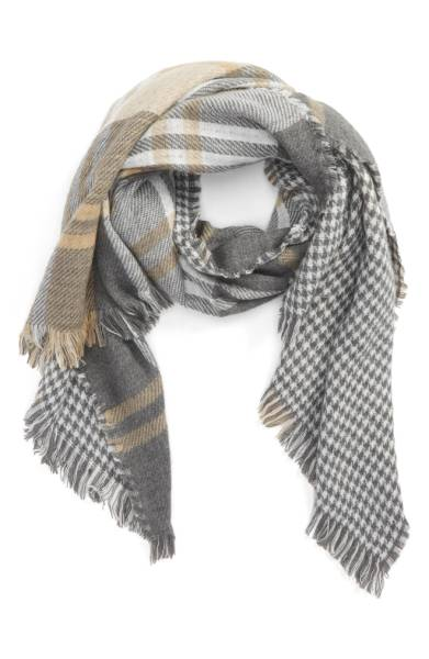 BP Reversible Plaid Oblong Scarf