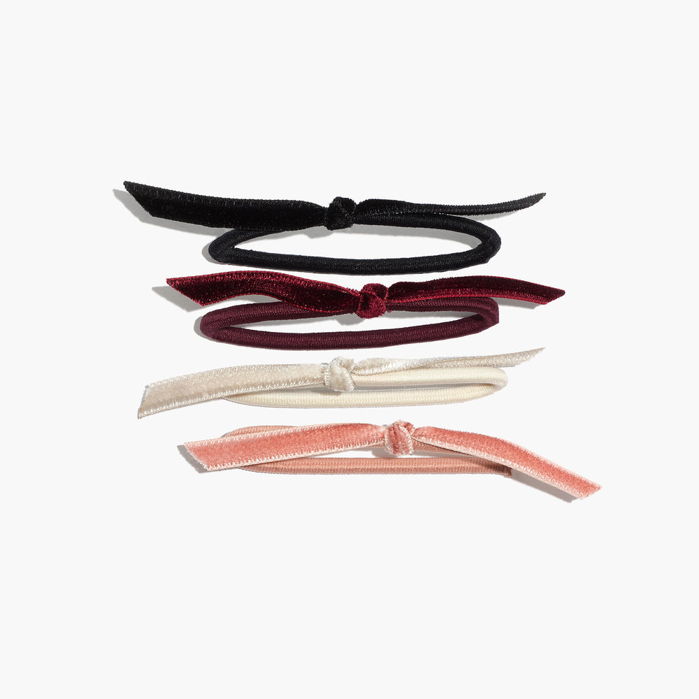 Madewell - Knotted Velvet Hair Tie Set