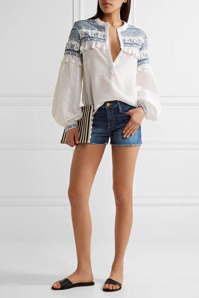 Frame le cutoff denim shorts.jpg