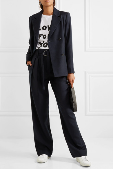 Frame pantalon large en laine