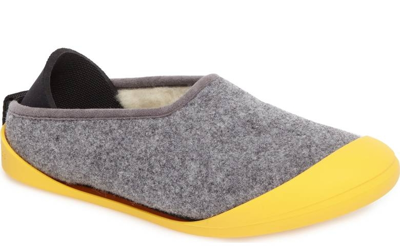 These Mahabis slippers are not only cozy, but CONVERTABLE. Yea, you read that right--just slip on the detachable rubber sole and you're set to go run errands in the most comfortable fashion.