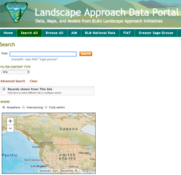 BLM Landscape Approach Data Portal -
