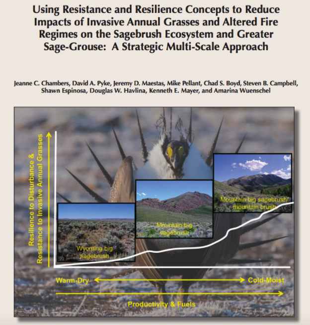 Using Resistance and Resilience Concepts to Reduce Impacts of Invasive Annual Grasses & Altered Fire Regimes on the Sagebrush Ecosystem & Greater Sage-Grouse Approach by J.C. Chambers et al. 2014 -