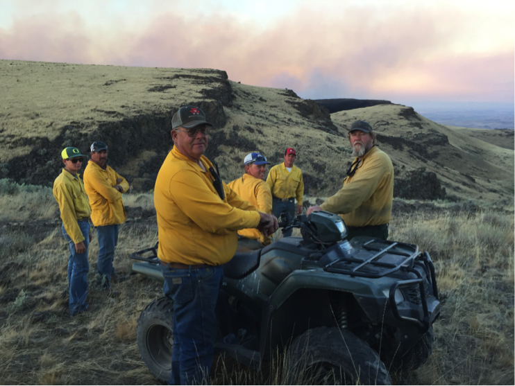 Volunteer members of the Jordan Valley RFPA know the country well and are an efficient resource to combat rangeland fires. Photo by Jordan Valley RFPA.