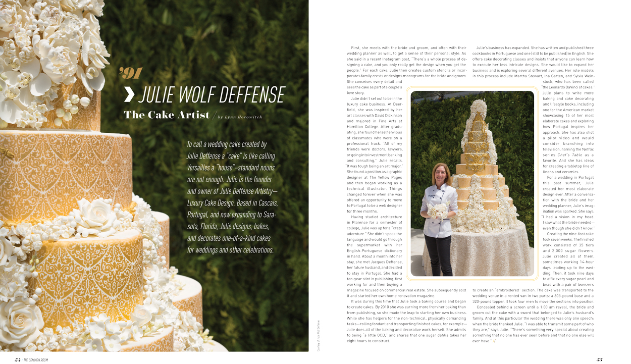 JULIE WOLF DEFFENSE The Cake Artist By Lynn Horowitch