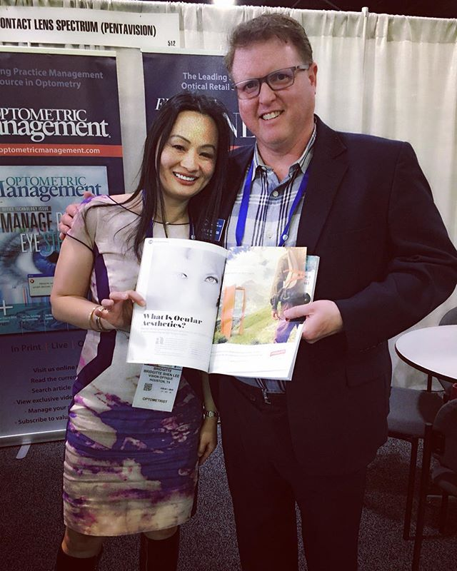 Very happy to share the joy of holding my first #OcularAesthetics column with friends! . . @drbridgitte @eyecarebusinessmagazine #SECO2018  #VisionOptique #optometry #DigitalEyedoc #DigitalEyehealth