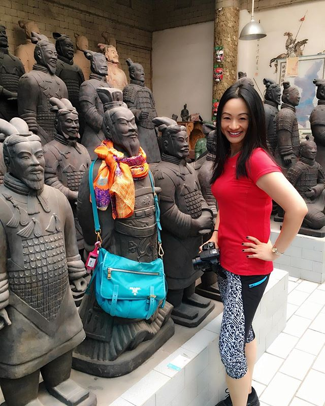 What happens when you leave me alone with a room of clay colored #terracottawarriors 🤣📷 . . Join us: #china #OptometryCE  program Dates: July 14 - 22, 2018 Speaker: Dr. Melissa Barnett CE Program Host: Dr. Bridgitte Shen Lee www.iTravelCE.com/registration . . #iTravelCE #optometry #optometrist #ODlife #luxurytravel #instaxian #wanderlust #drd47r #summervacation #docsonvacation