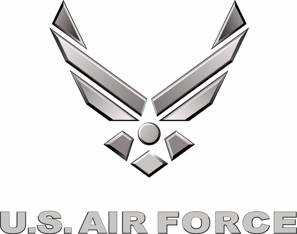 Air Force Logo - Silver 3D, with text