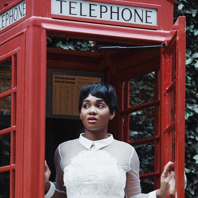 Mr. Telephone Man☎️ -------------- Check out the blog for this all white style piece👌🏾
