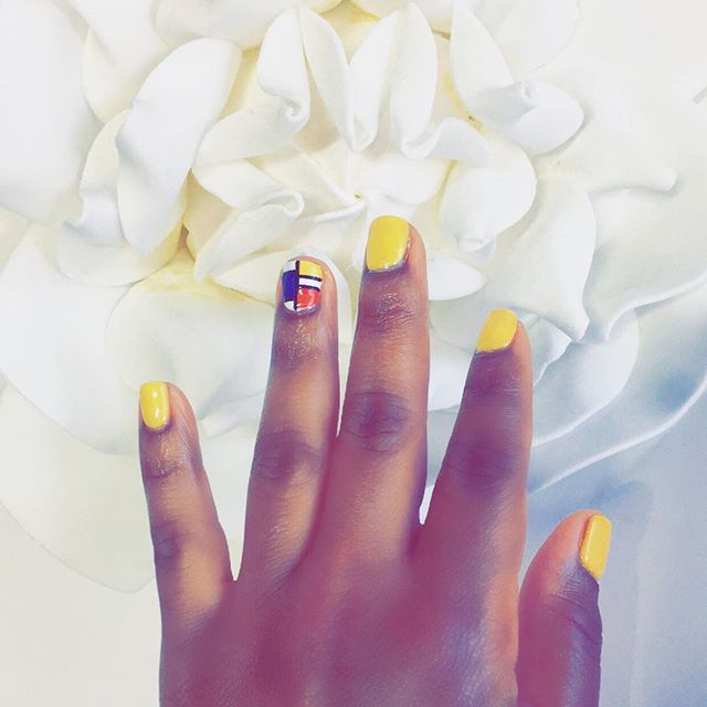 I love bright nail colors. I usually stick to solid colors while always putting a different color on the pinky. This time I searched Pinterest for inspiration and found this style. Super cute! What is your go to nail style?