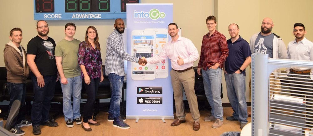 Caption: Drayton Florence and the intoGo App Team