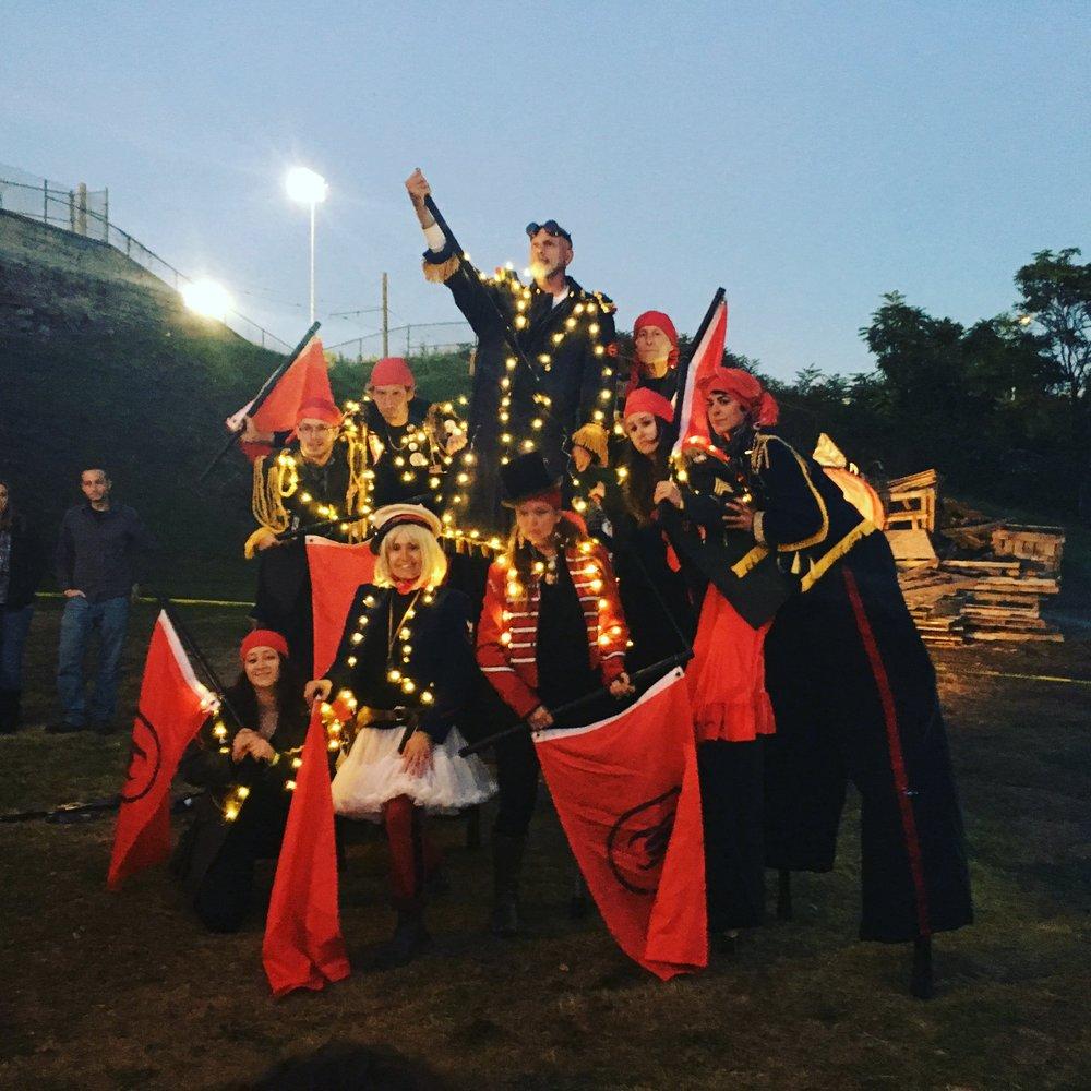 NACL Street Corps at the Scranton Bonfire Festival