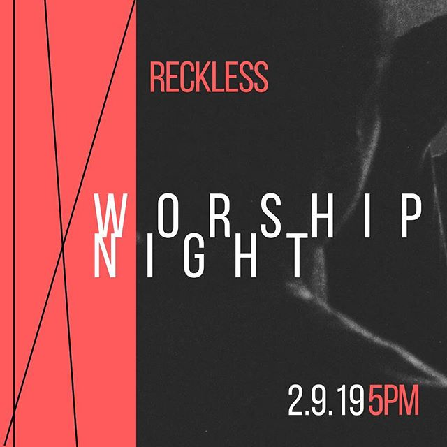 Don't forget about our #reckless Worship Night coming up in two days! Bring a friend and come expecting to encounter the Spirit! #awakenvb #missionalworship #responsivestations