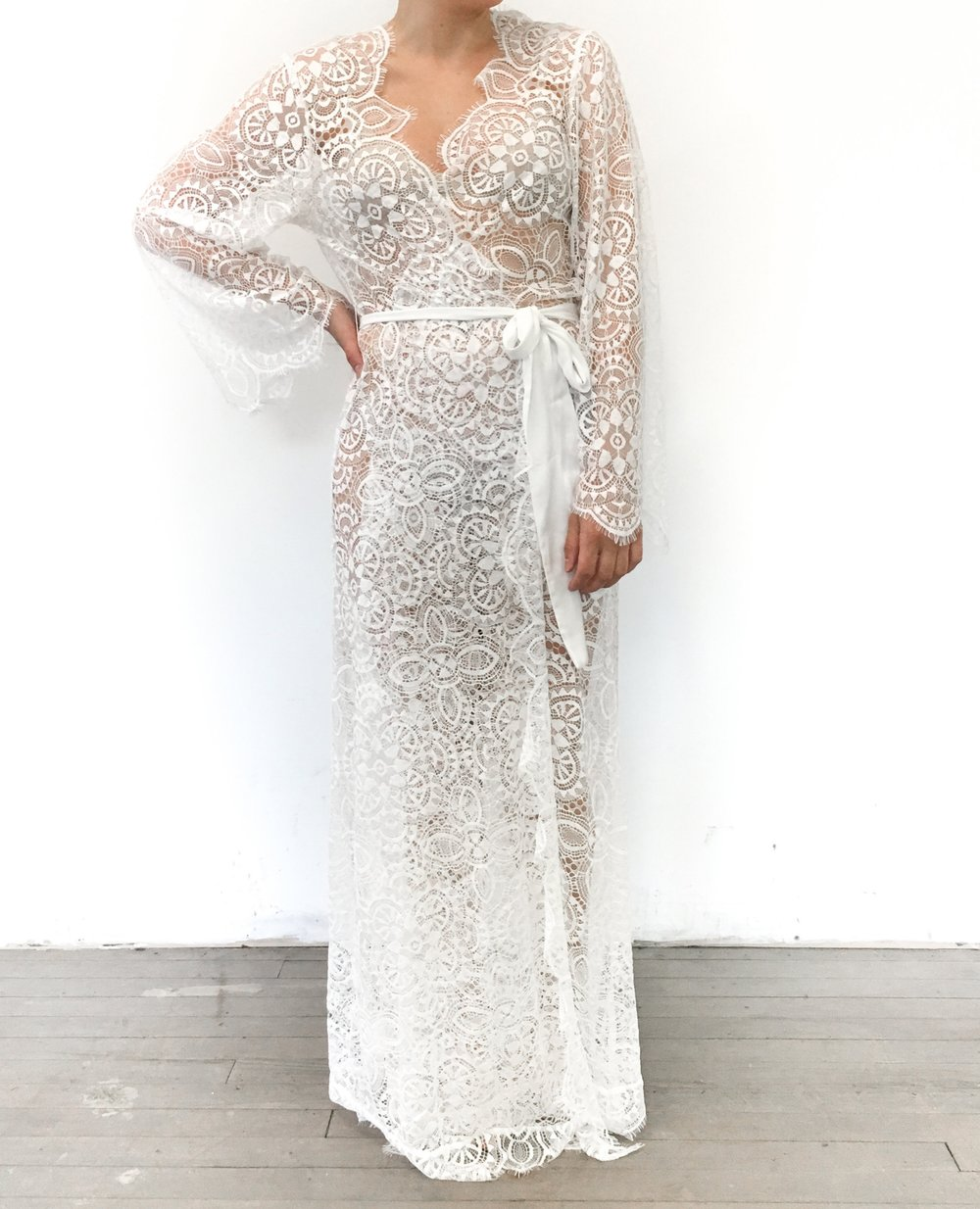 Floor Length Lace Robes