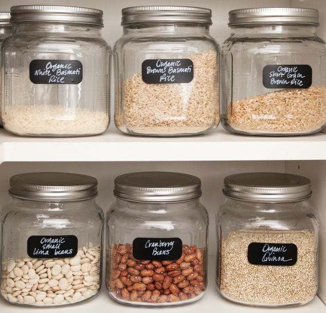 'Family-style' storage & labels for everything!
