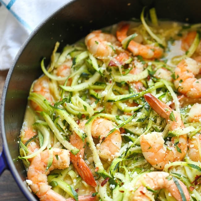 Season-appropriate Summer Shrimp Scampi