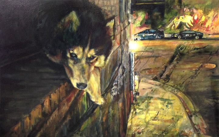 Hewitt Husky Night 2.5' x 3'