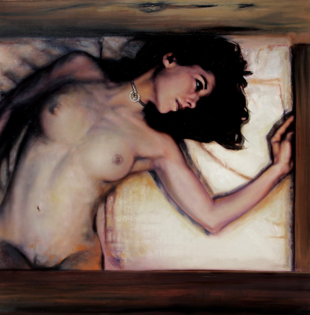 Woman In A Box - Debbie 1 4' x 4'