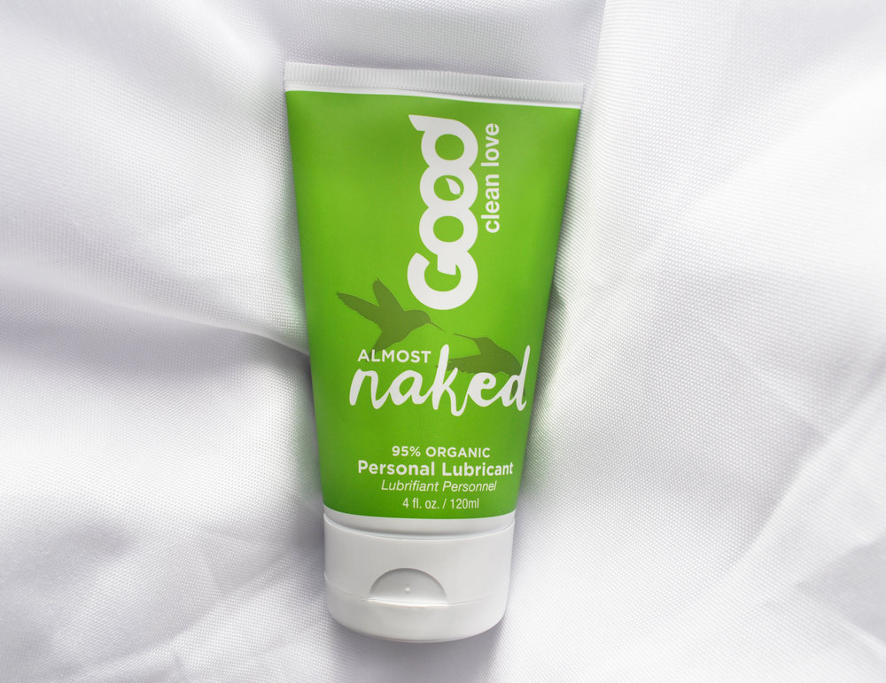 Good Clean Love Almost Naked Organic Personal Lubricant is a water-based lube made with aloe vera and infused with a touch of lemon and vanilla, giving it a light organic flavor. This organic Good Clean Love personal lubricant is designed for the most sensitive skin types. Almost Naked Personal Lubricant is formulated to provide a long-lasting glide without all the irritating chemical additives and sticky cleanup associated with conventional lubricants. Good sex isn't about side effects. Respect the most sensitive tissues in your body with organic ingredients and enhance your love life naturally.