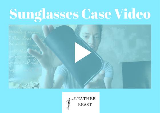 leather beast leather sunglasses case free tutorial