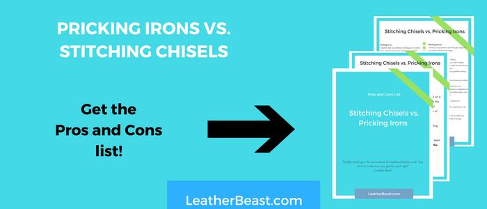 PRICKING IRONS VS. STITCHING CHISELS