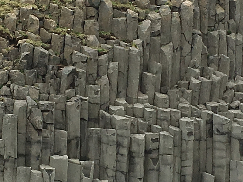 Rock Formations at the Black Beach