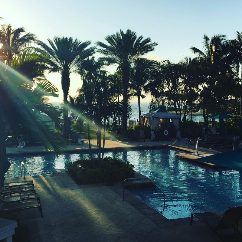 Sunset at The Ritz Carlton Sarasota Pool