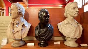 Busts of the Three Authors