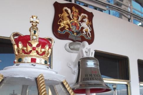 The Royal Crest on Royal Yacht  Britannia