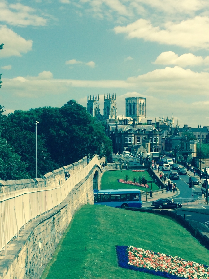 View of York Minster from the City Wall