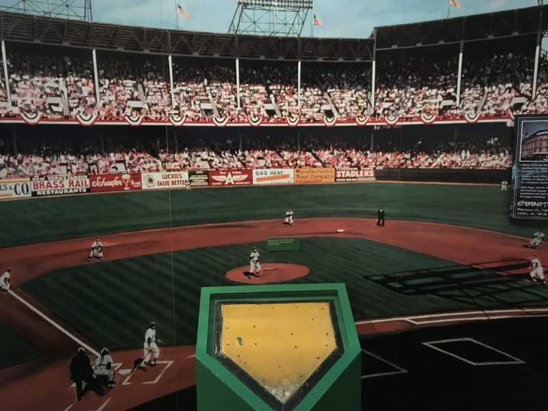Ebbet's Field Image with actual home plate