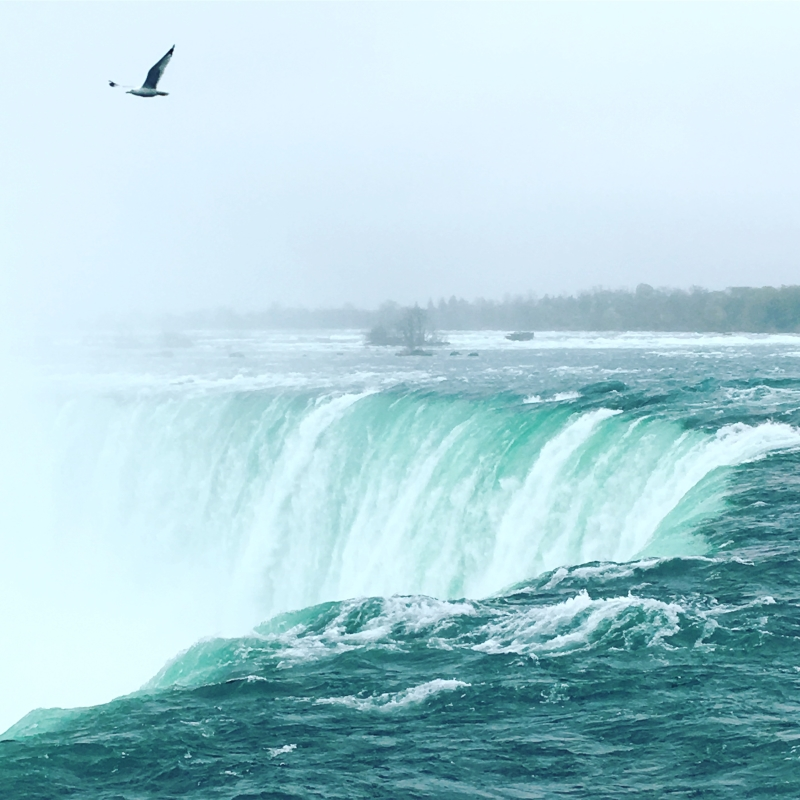 Top of Niagara Falls From Canadian Side