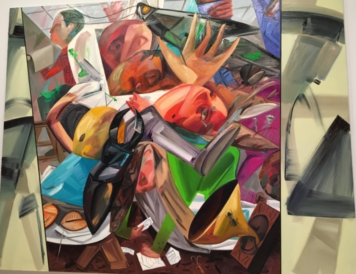 The Elevator by Dana Schutz