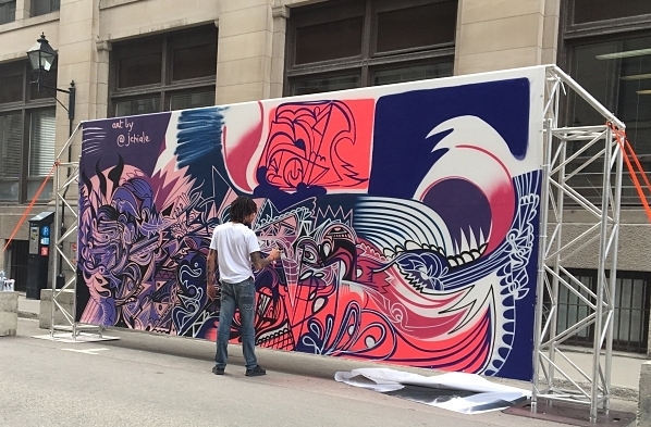Street art on rue Saint-Paul