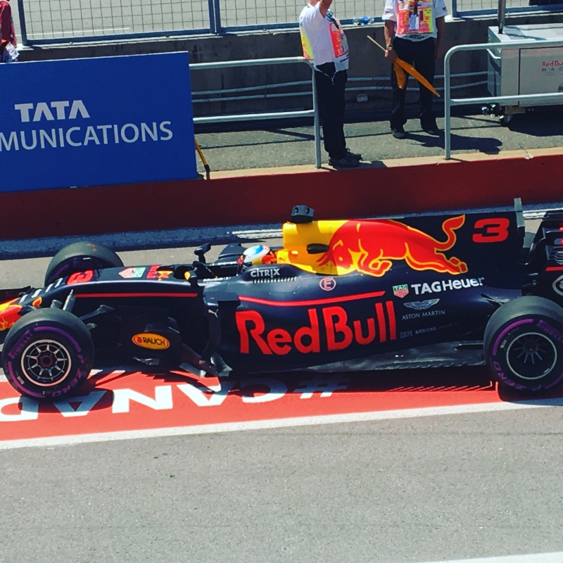 Red Bull Car in the Pit lane