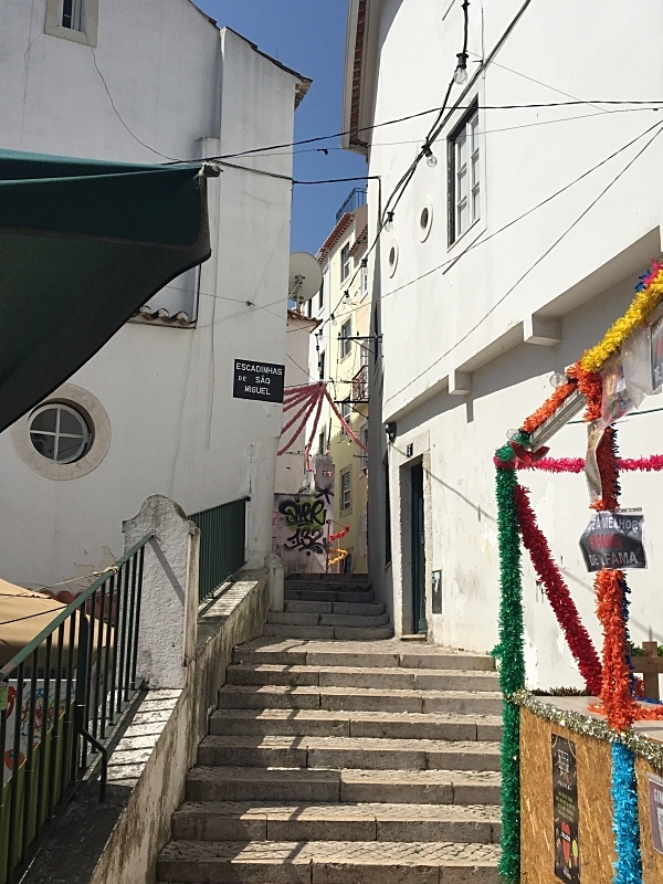 Stairs everywhere in the Alfama