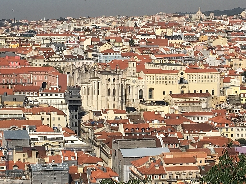 Lisbon View of Convento do Carmo from St. George Castle