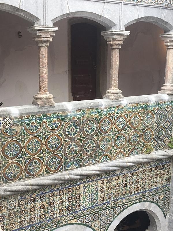 Pena Tiles in Cloisters.JPG