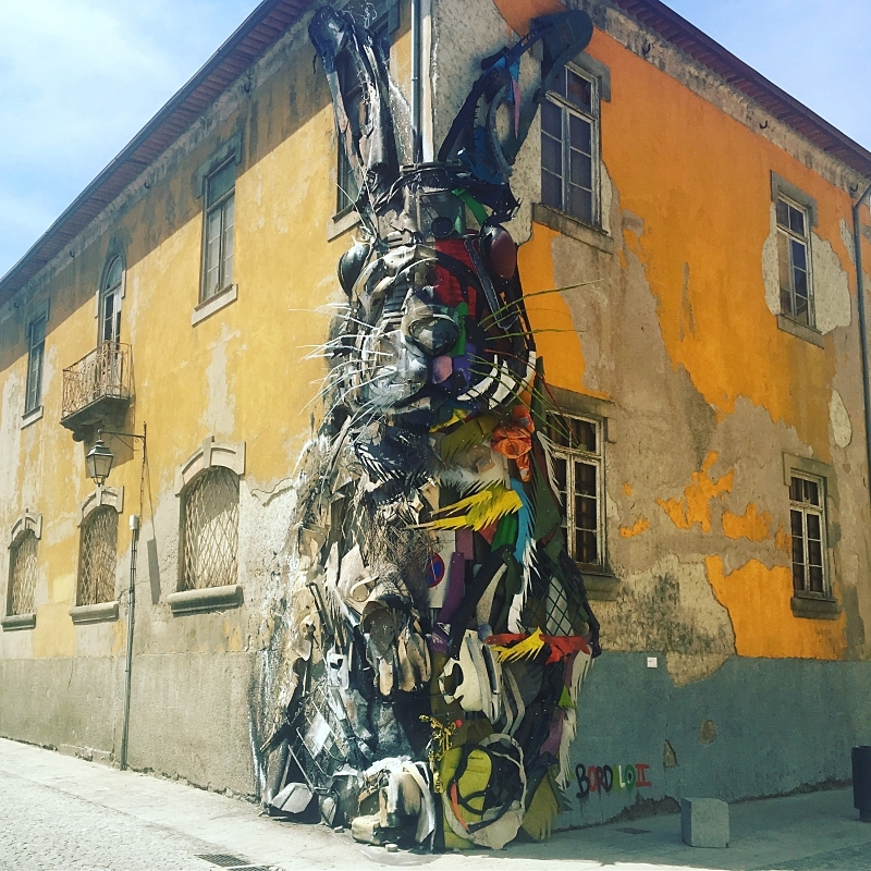 """Half Rabbit"" by Bordalo II"