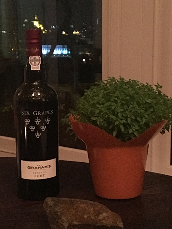 Grahams' Port With Traditional Basil Plant