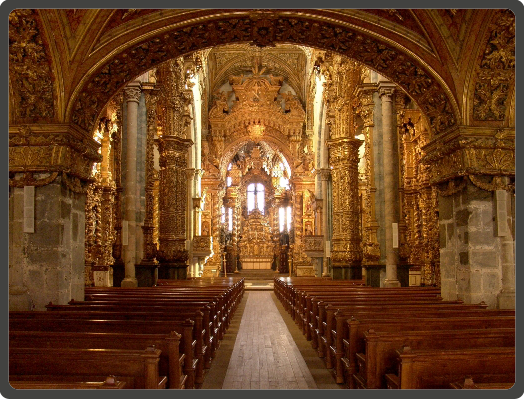 Interior of Church of Sao Francisco