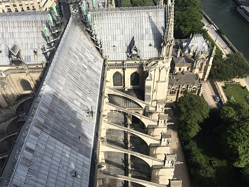 The Flying Buttresses from Above