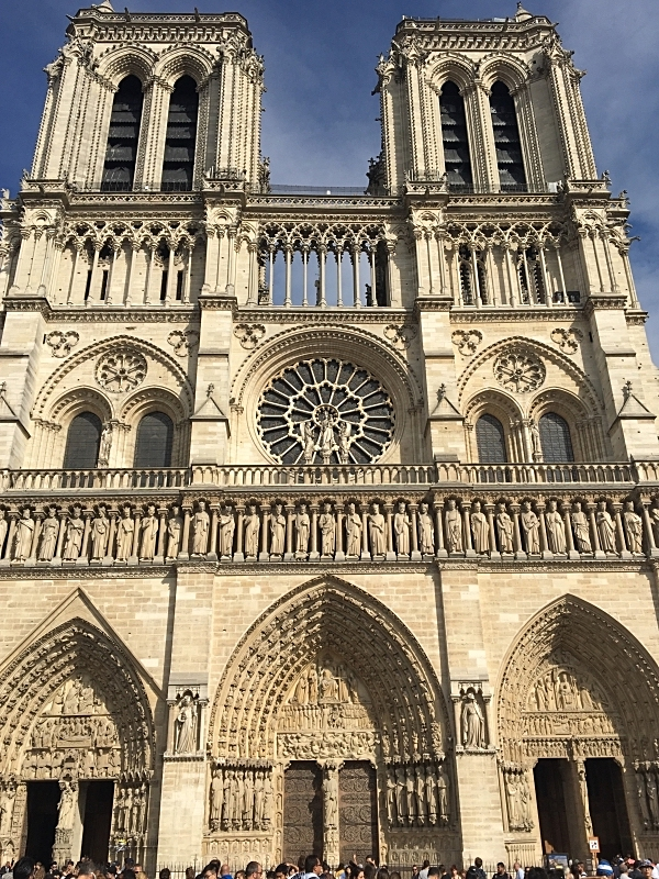 The Facade of Notre-Dame de Paris